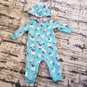 Fleece Footless Baby Outfit 6M